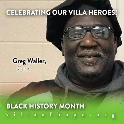 Greg Waller, Villa of Hope Cook