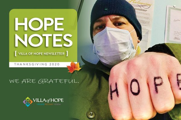 Cover of Hope Notes, Thanksgiving issue