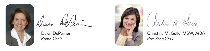 Dawn and Christina signatures