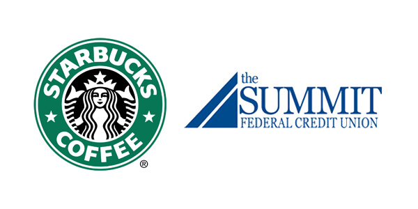 Starbucks logo Summit logo