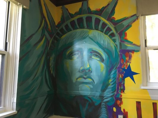 Painting of the Statue of Liberty